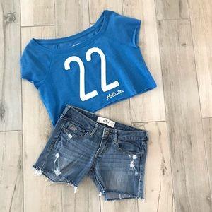Hollister Crop top & shorts M